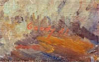 1941 Oil On Canvas Painting DRY HOLE Goody Casper