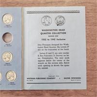 3 US Coin Albums 45 Washington Silver Quarters