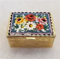 Italian Mosaic Trinket Box & Jewelry Bracelet Etc