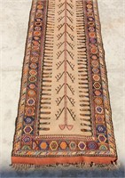 12' Handmade Middle Eastern Oriental Tribal Runner