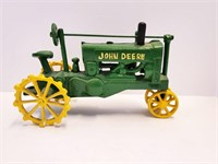 1960s Cast Iron John Deere Tractors & Hay Wagon