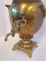 Antique Brass Turkish Tea Samovar #1