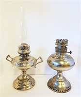 Liberty & Rayo Nickel Plated Kerosene Lamps