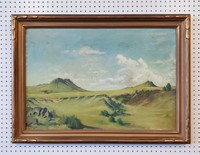 Two 1934 Landscape Oil Paintings Signed H Morledge