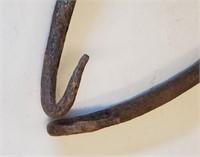 Primitive Cast Iron Ice Tongs Hook & Pot Lifter