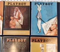 Eight 1964 PLAYBOY Magazines w) Centerfolds