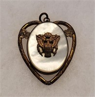 World War II Sweetheart Jewelry Locket Pins
