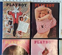 Eight 1965 PLAYBOY Magazines w) Centerfolds