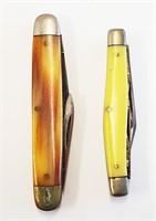 2 Keen Kutter Jack Knives & Bonsa Folding Scissors