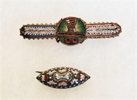 Vintage Italian Mosaic Jewelry Necklace Pins Etc