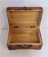 Two Vintage Carved Wooden Oriental Boxes