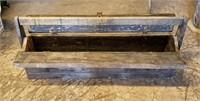 "Primitive 35"" Wooden Tool Box Caddy"