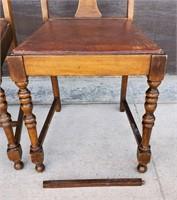 Set of Four Antique Walnut Depression Era Chairs