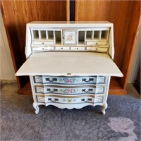 Betty Parker Signed Painted Drop Front Desk