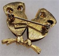 Vintage Crown Trifari Monet Gerrys Frogs Owls Pins