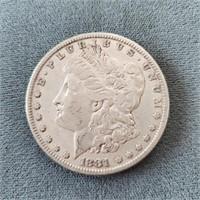 1881-O & 1881-P US Morgan Silver Dollar Coins