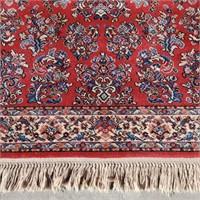 "KARASTAN 100% Wool Sarouk Rug 4' 3"" x 6'"