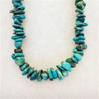 """Vintage 16"""" Turquoise Nugget Necklace"""