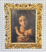 1800s Italian Oil Painting Madonna & Child History