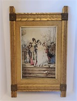 1890 Queen of the Roses Print In Eastlake Frame