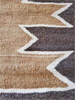 Antique Navajo Rug Geometric Sawtooth Pattern