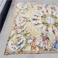 """Chinese Hand Made Monkey Tapestry Rug 7'9"""" x 9'9"""""""