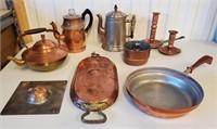 Vintage Copper Tea & Coffeepots & Other Pieces