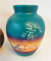 Ute Mountain & Hozoni Pottery Vases SW Design