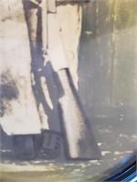 Antique Convex Glass Frame Little Cowboy Soldier
