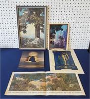 Maxfield Parrish Prints Calendar Tops Ads Etc