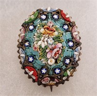 Antique Italian Mosaic Jewelry Buttons & Pins