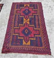 Hand Knotted  Kazak Tribal Rug From Afghanistan