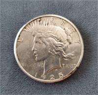1925-S US Peace Silver Dollar Coin