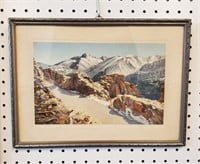 2 Rocky Mountain Prints & Hand Colored Photo