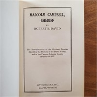 WY BOOK Malcolm Campbell Sheriff 1932 Signed 1st