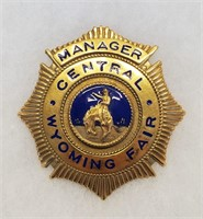 Vintage Badge Manager Central Wyoming Fair