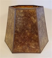 Arts & Crafts Style 6 Sided Mica Lampshade