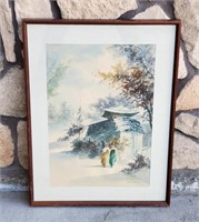 Watercolor Painting Japanese Women by Hoe Won