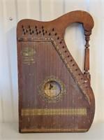 Antique 1910 Guitar Piano Harp Musical Instrument