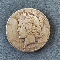 1923-P & 1934-S US Peace Silver Dollar Coins