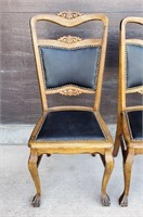Matched Set of Four Antique Oak Chairs