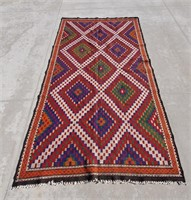 "Large Turkish Konya Tribal Rug 6'2"" x 11'7"""