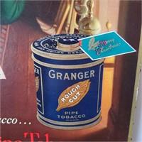 Vintage Granger Pipe Tobacco Advertising Sign