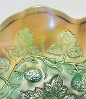 Millersburg Blackberry Wreath Carnival Glass Bowl