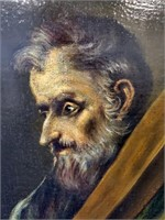 BIG Oil on Canvas Painting El Greco SAINT ANDREW