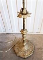 """Vintage 61"""" Ornate Metal Bridge Floor Lamp"""