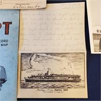 WW2 Militaria Lot Photos Serviceman Letter Ration