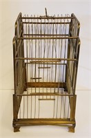 Vintage German  Brass Birdcage with Stand