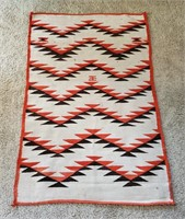 Antique Navajo Rug  Flying Geese Late 19th Century