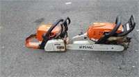 Two Stihl Chainsaw Motors, one with  ar only, buy